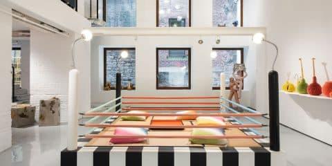 Masanori Umeda's Tawaraya boxing ring seating unit