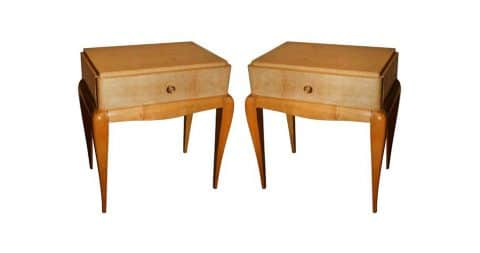 Pair of Art Deco end tables, ca. 1930s, offered by Paul Stamati Gallery