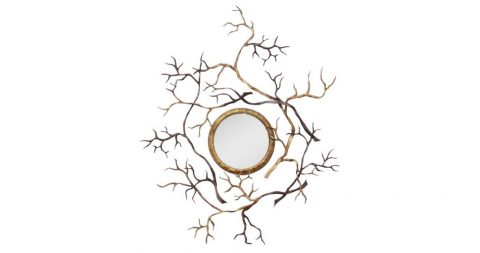 Hervé van Der Straeten bronze Branches mirror, 2008, offered by Maison Gerard