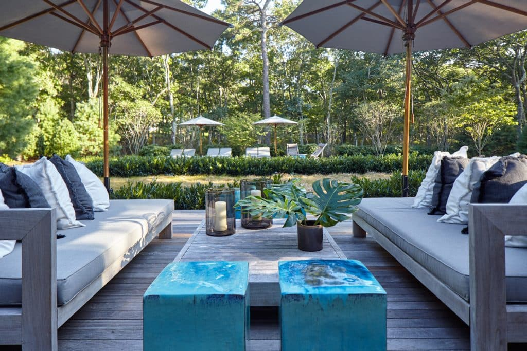 East Hampton patio by Russell Groves