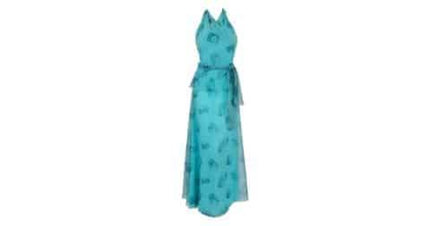 Stephen Burrows bird-print chiffon halter dress, 1970s, offered by Timeless Vixen