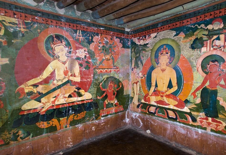 mural in chapel at Jonang Puntsoling