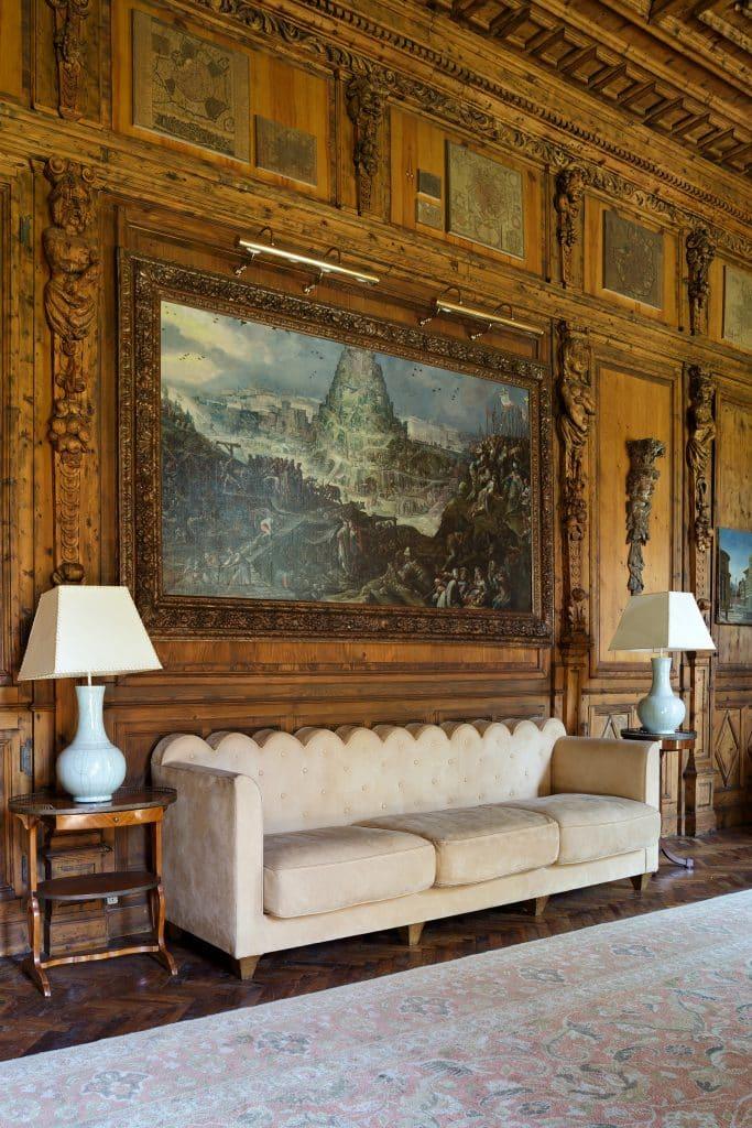 Piero Portaluppi Casa degli Atellani Milan study sofa