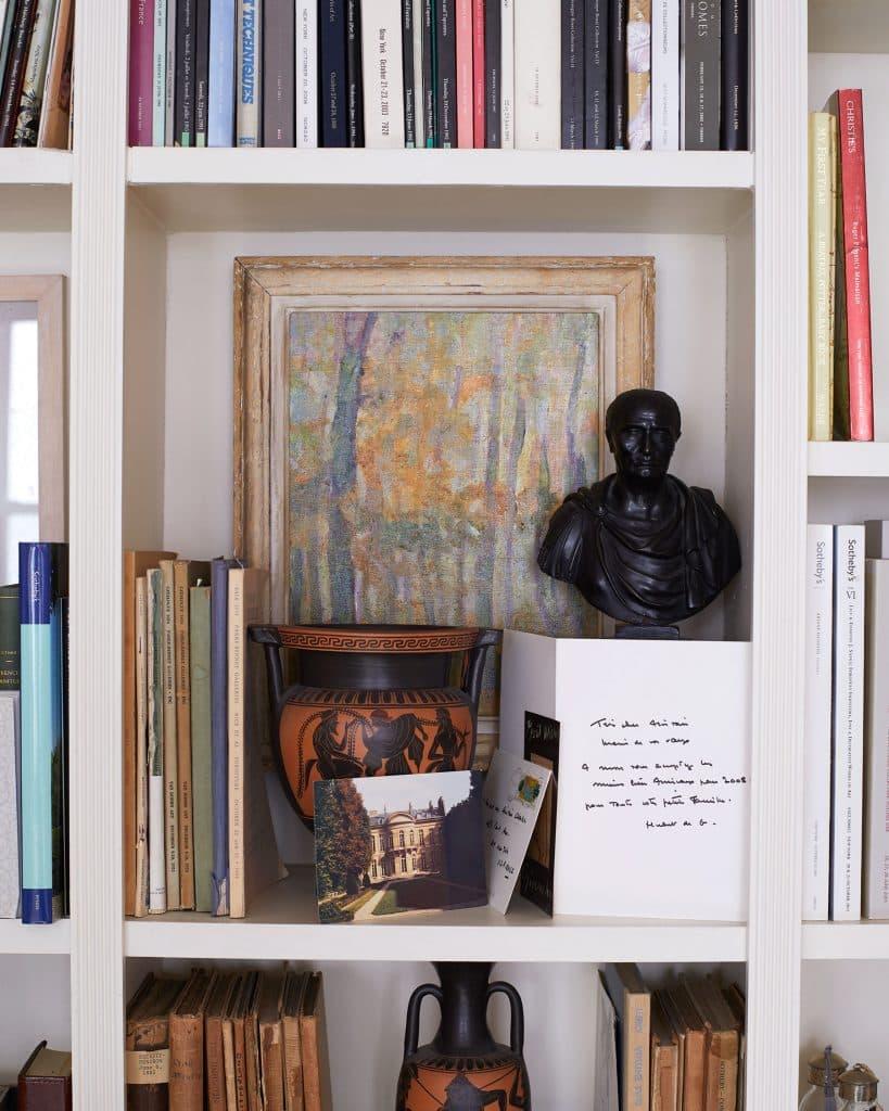 Blair Voltz Clarke and Alistair Clarke New York apartment bookshelves