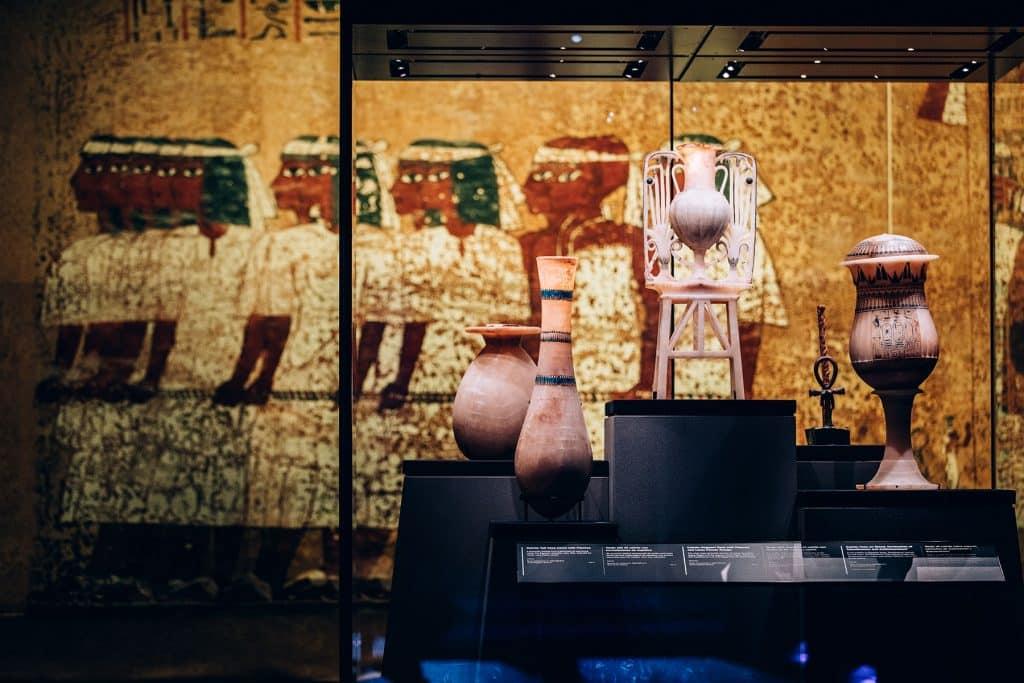King Tut exhibit display
