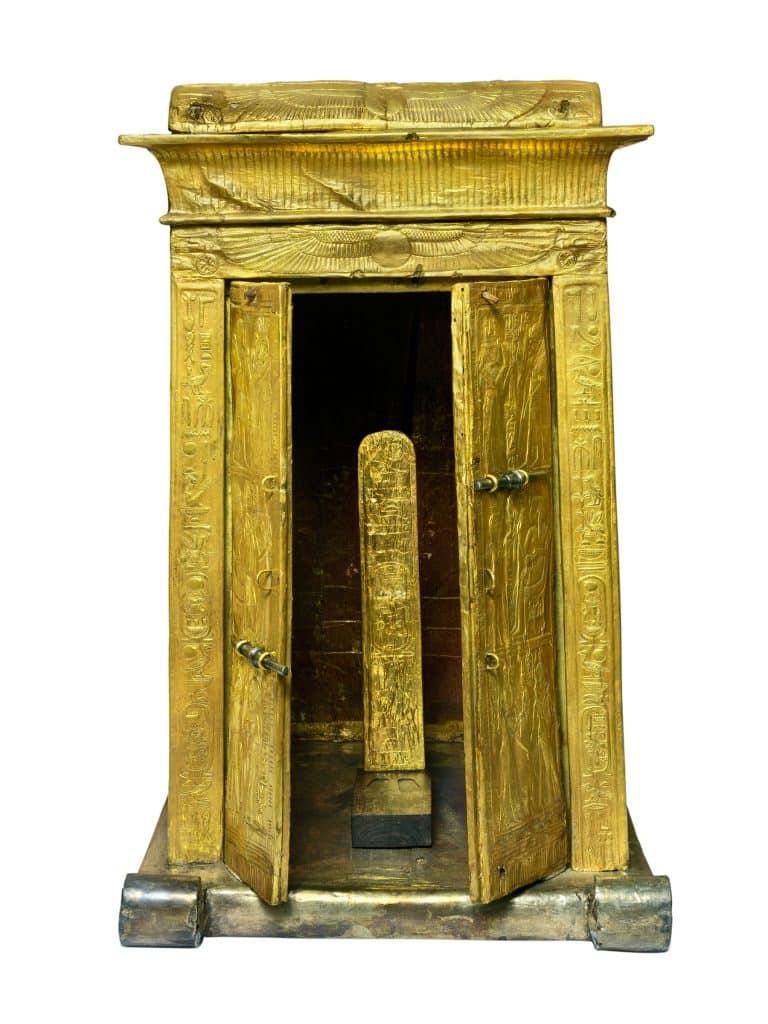 gilded wooden shrine