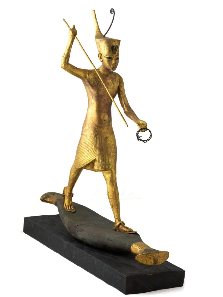 King Tut gilded figure