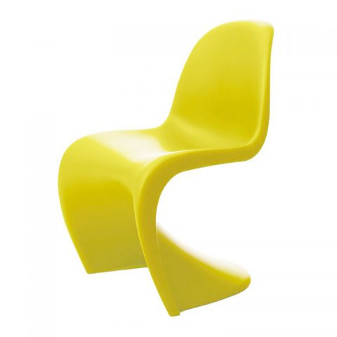 Panton chair in chartreuse, designed in 1968, new, offered by Vitra