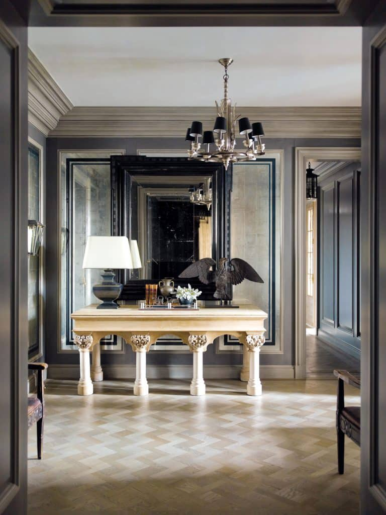 entrance hall by Steven Gambrel
