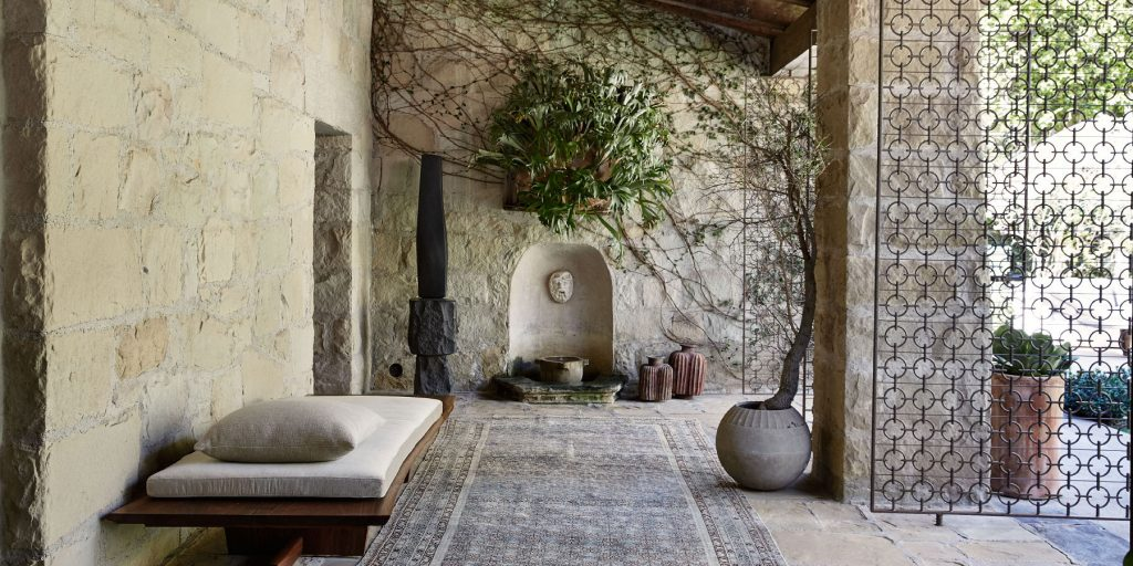 Photographer William Abranowicz American Originals: Creative Interiors Vendome Press Ellen DeGeneres Portia de Rossi terrace Montecito California house