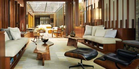 Architect Dirk Denison 10 Houses book Carmel California house living room