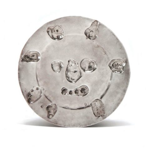Pablo Picasso silver plate, 1957