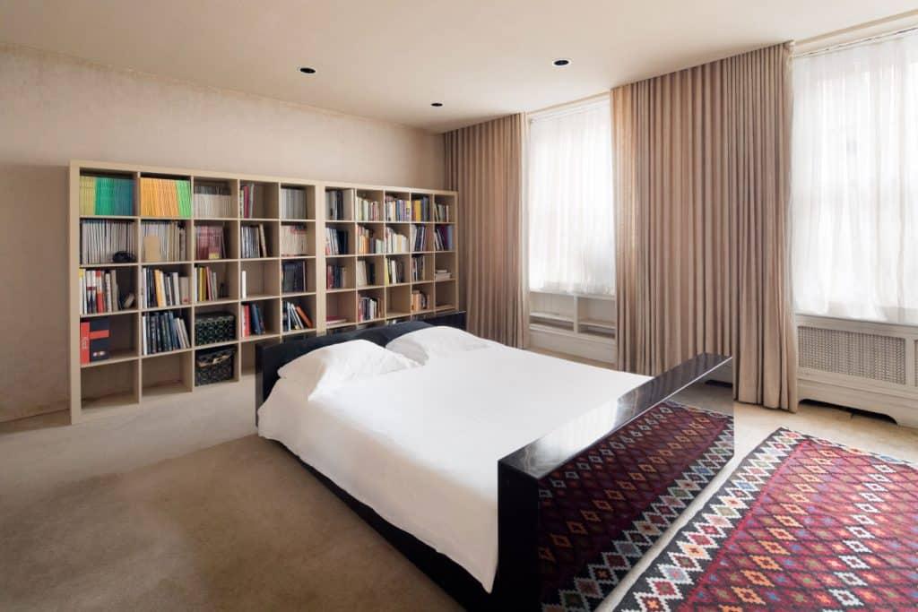 Designers Massimo and Lella Vignelli New York City apartment bedroom