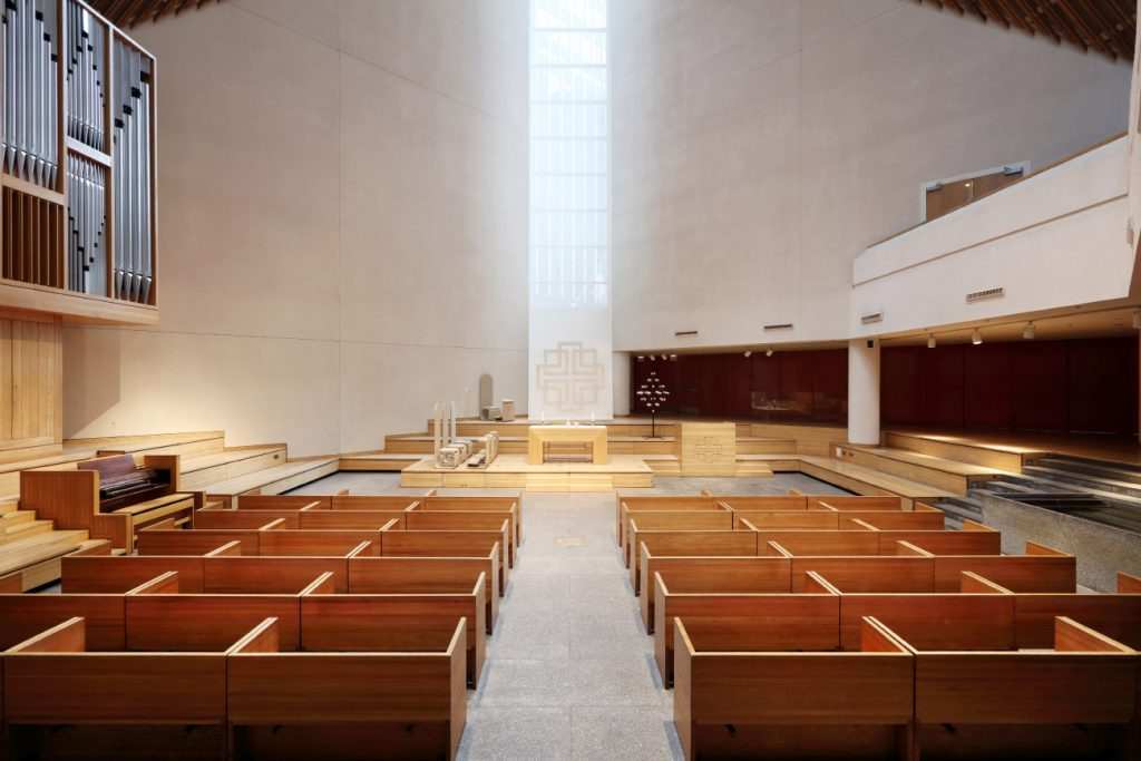 Designers Massimo and Lella Vignelli Saint Peter's Church New York City Manhattan