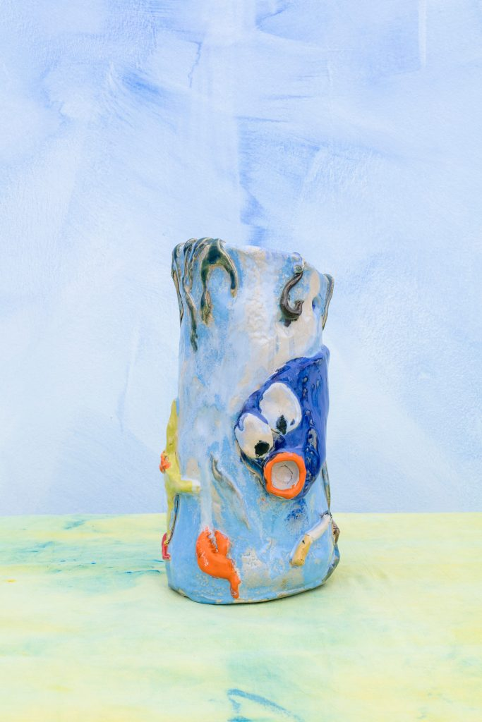 A Superpoly vase with an aquatic motif