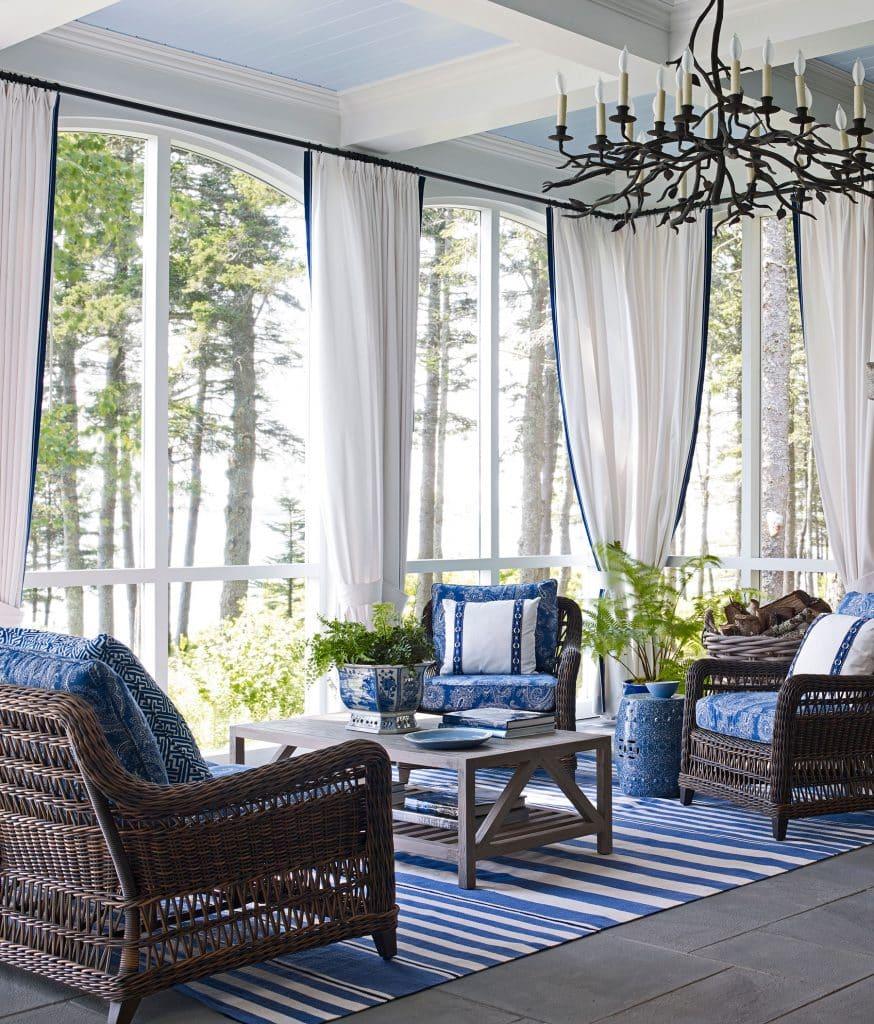 Suzanne Kasler designed porch in Maine
