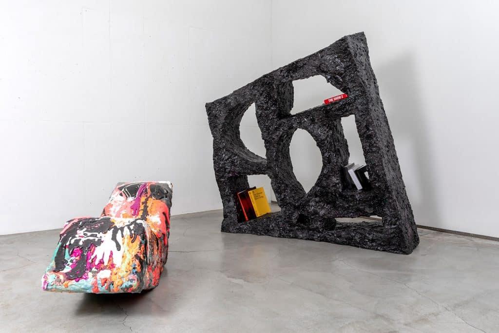 Sang Hoon Kim's nap chair and bookshelf