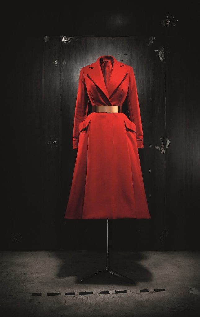 Christian Dior by Raf Simons red wool coat