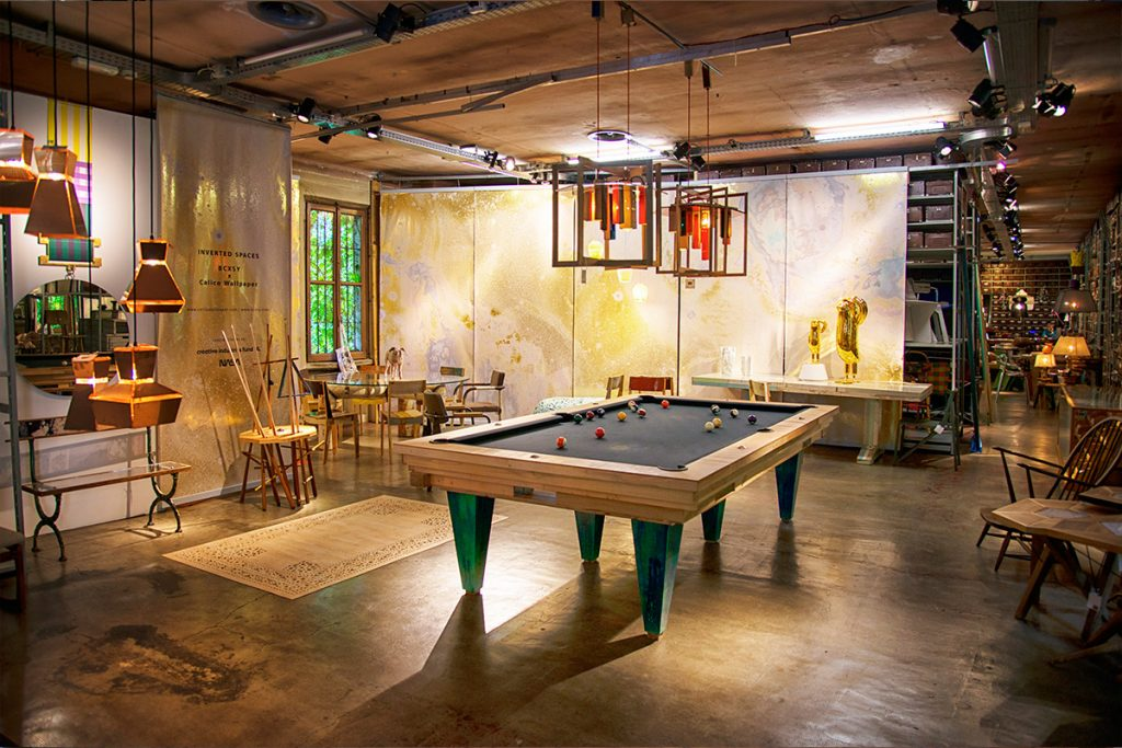 Hillsideout's American Pool Table Chaac at Galleria Rossana Orlandi