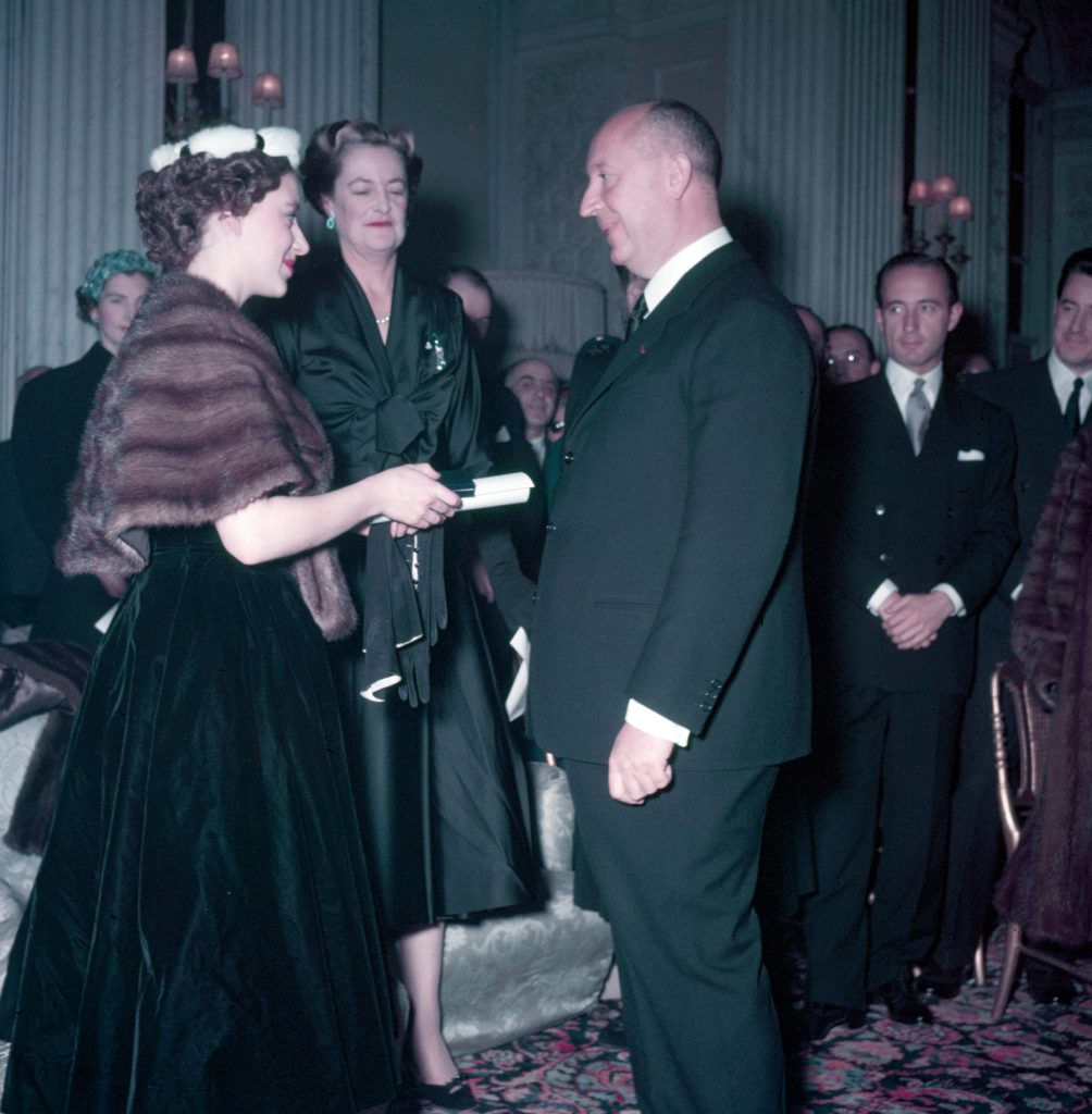 Princess Margaret and the Duchess of Marlborough with Christian Dior