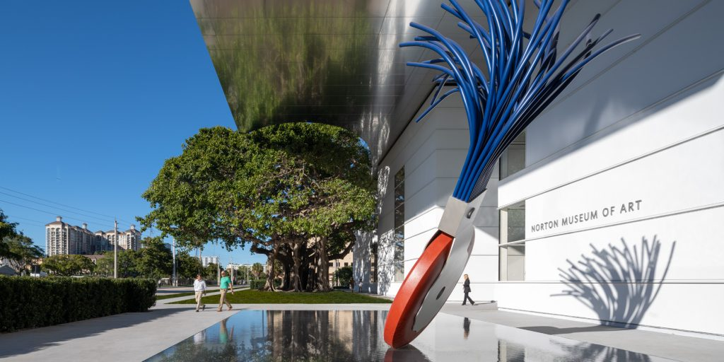 The exterior of the Norton Museum of Art in Palm Beach