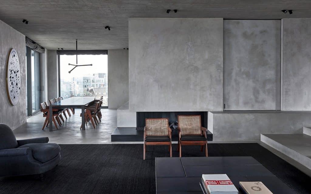 Vincent Van Duysen penthouse with Pierre Jeanneret furniture