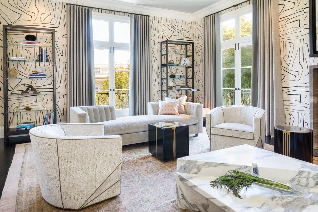 Interior designer Drew McGukin San Francisco living room
