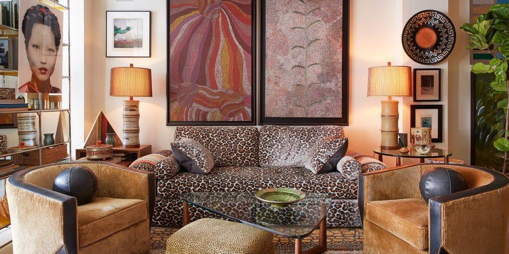 Interior designer Drew McGukin New York loft living room