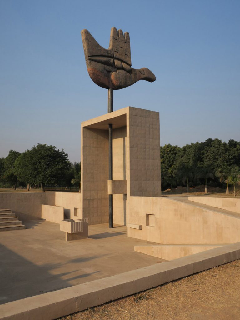 Open Hand Monument at theCapital Complex in Chandigarh, designed by Le Corbusier