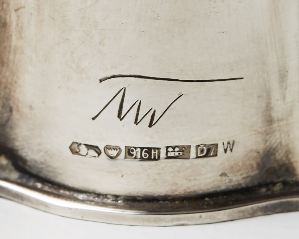 Tapio Wirkkala silver vase signed Modernity Stockholm