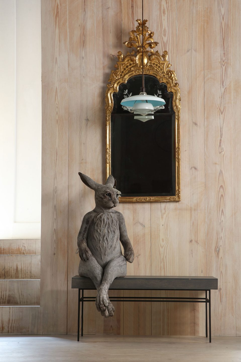 These Human-Size Ceramic Hares Evoke Serious Emotions