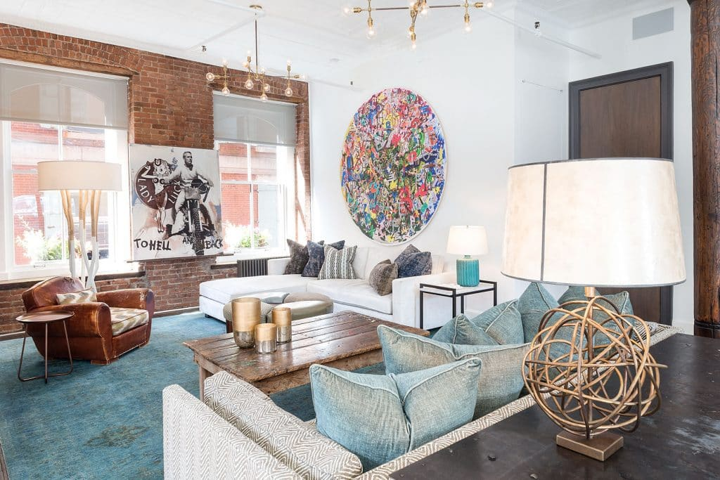 Interior designer Drew McGukin Soho New York living room