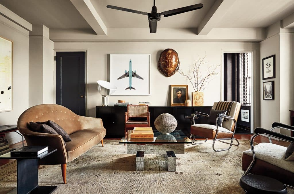 Anthony Iannacci New York Design at Home Abrams Neal Beckstedt Chelsea apartment living room