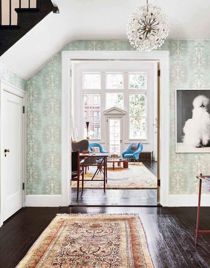 Anthony Iannacci New York Design at Home Abrams Michael Haverland Greenwich Village duplex foyer