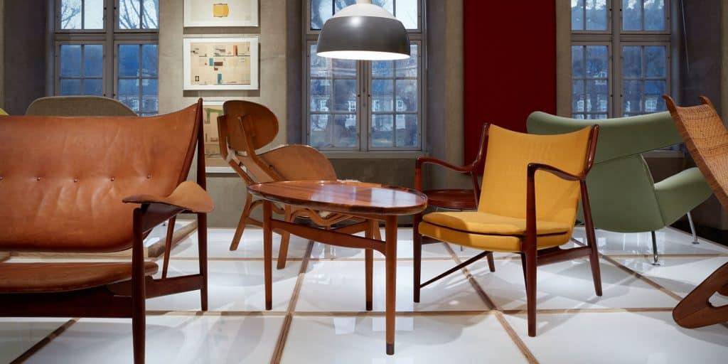 Danish furniture exhibit