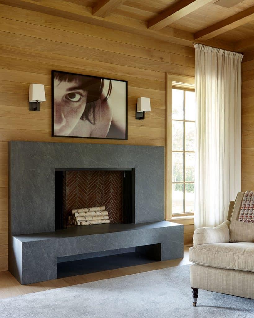 A Bridgehampton guest room designed by Frampton Co.