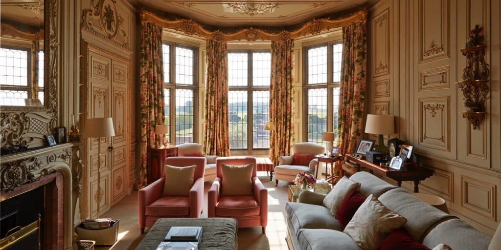 Sitting Room at Madresfield Court, Designed by Emily Todhunter and Kate Earle