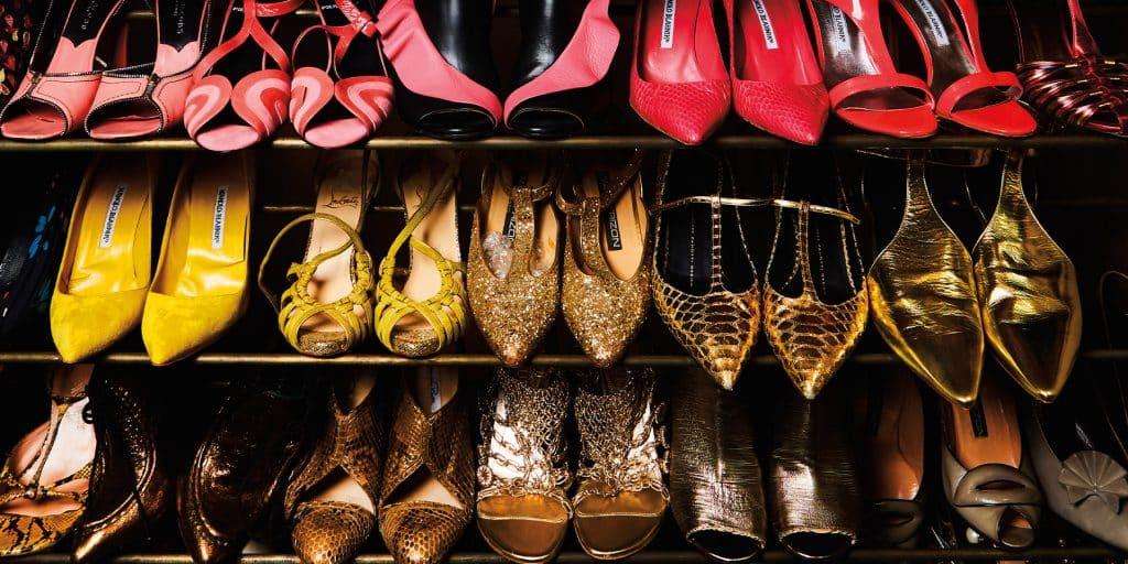Closetful of Designer Shoes