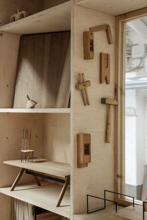 Milan furniture designer Giacomo Moor office workshop joinery tools
