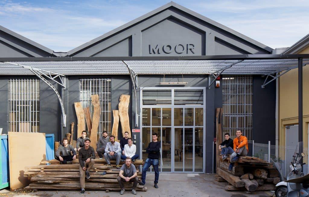 Milan furniture designer Giacomo Moor office workshop staff artisans exterior