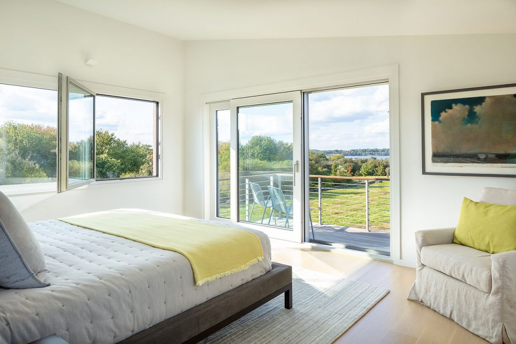 Jim Estes Peter Twombly Estes Twombly architects Narragansett Bay Rhode Island master bedroom