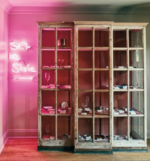 Estee Stanley collection cabinet