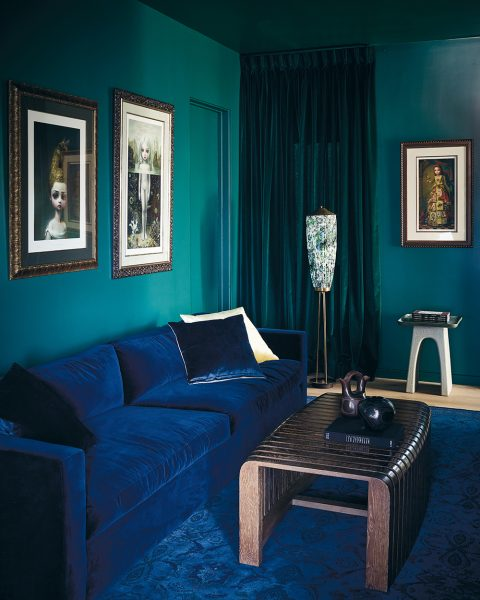 blue and green room by Estee Stanley