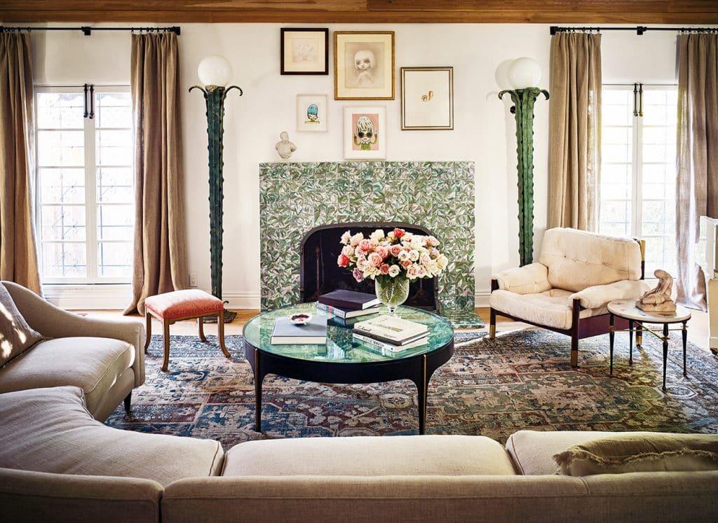 Estee Stanley Los Angeles living room