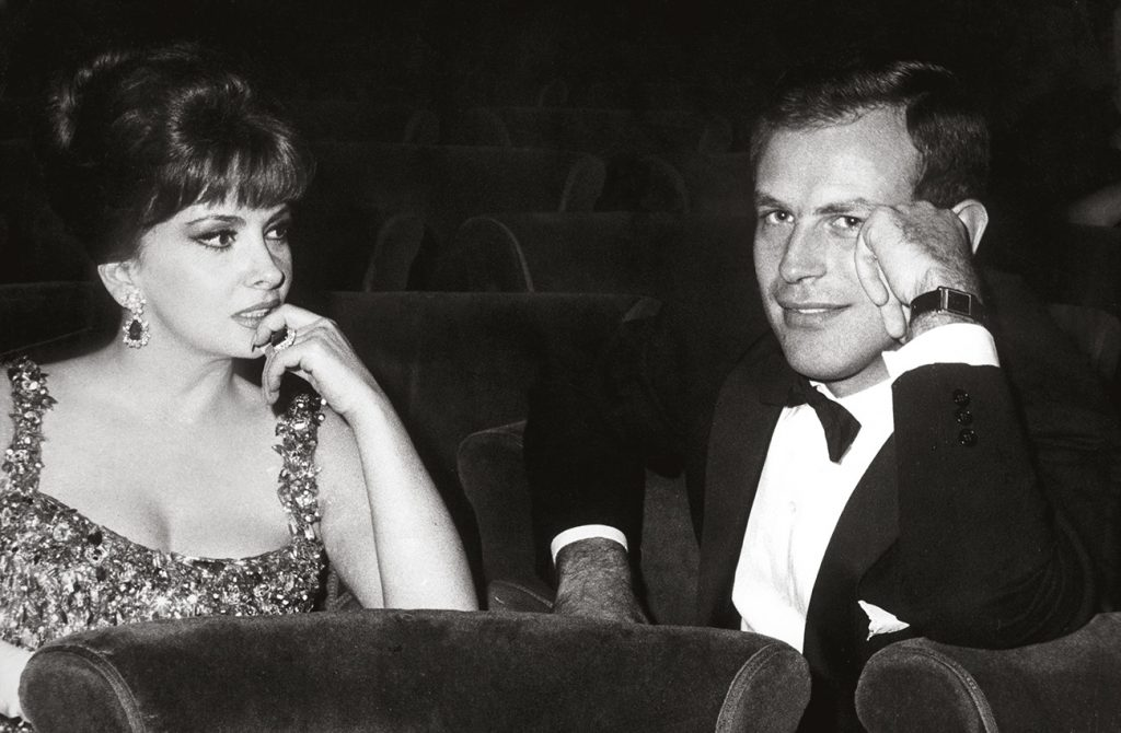 Gina Lollobrigida with Gianni Bulgari, ca 1970