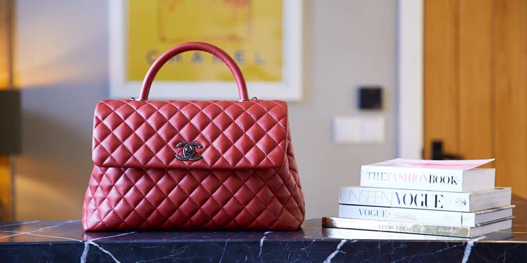 Xupes red Chanel bag