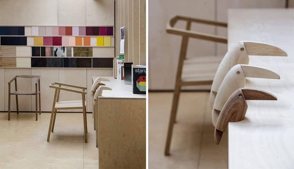 Milan furniture designer Giacomo Moor office workshop materials library Tucano