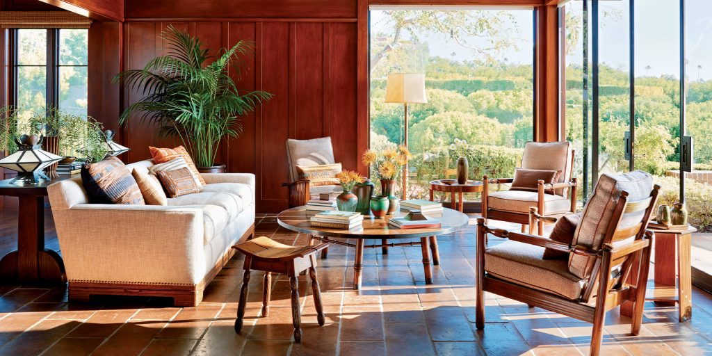 Madeline Stuart Arts and Crafts living room