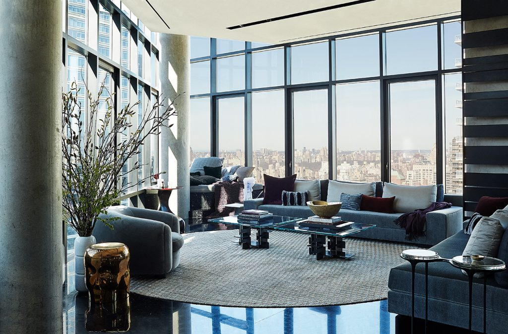 Edward Yedid Thomas Hickey GRADE New York Place 57 Midtown Manhattan penthouse living room