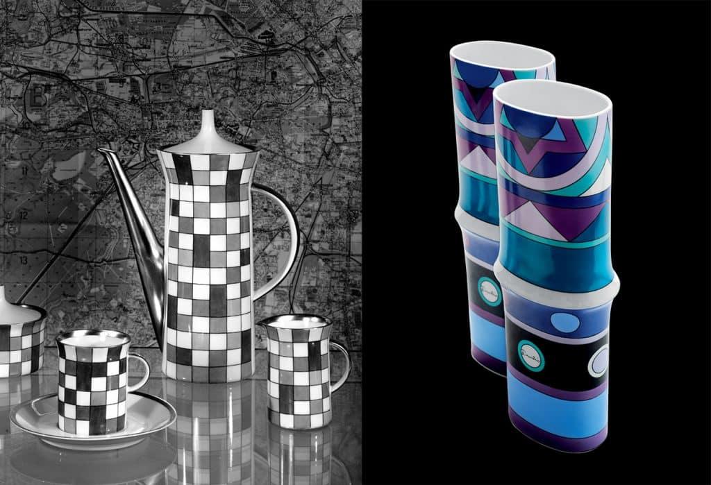 Set of Emilio Pucci for Rosenthal Studio Line Vivara motif vases, 1960s